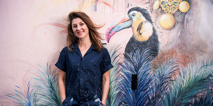 Hong Kong's Street Art Scene with Mural Painter Elsa de Jean De Dieu