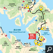 Maclehose Trail Stages 1 & 2 map